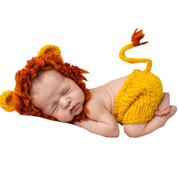 Soft Handmade Crochet Baby Animal Theme Outfit  Newborn Photography Props
