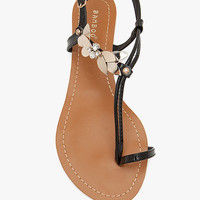 A'GACI Saili 13 Patent Toe Loop Curve Strap Metal Rhine - New Arrivals