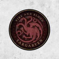 House Targaryen Sticker, Game Of Thrones, Fire and Blood, Daenerys, Dragons, Emilia Clarke, George R. R. Martin,