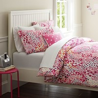 Cheetah Duvet Cover + Pillowcases, Pink Multi