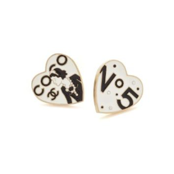 Chanel Enamel Heart Pins (Previously Owned)