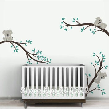 Large size Koala Tree Branches DIY Wall Decals Wall Sticker Nursery Vinyls Baby Wall Stickers Wall Art For Kids Rooms tx-303