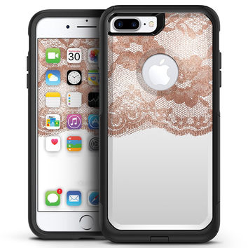 Rose Gold Lace Pattern 2 - iPhone 7 or 7 Plus Commuter Case Skin Kit