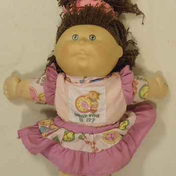 Cabbage Patch BF456 Vintage First Edition Baby Doll Plastic Fabric -- Good