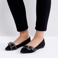 Coco Wren Pointed Ballet Flats at asos.com