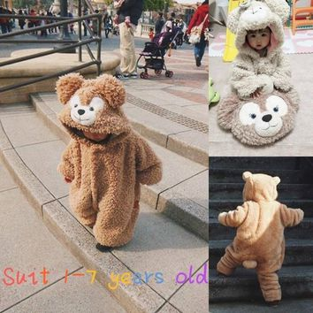 Newborn Infant Baby Boy Girl Fashion New Bear Clothing Happy Kids Cute Cosplay Clothing Fit 1-7 Years