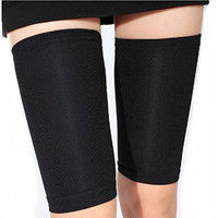 Slimming Thigh Leg Shaper Compression Sleeve Weight Loss Wrap Belt , Black