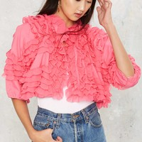 Vintage Shoot to Frill Cropped Jacket