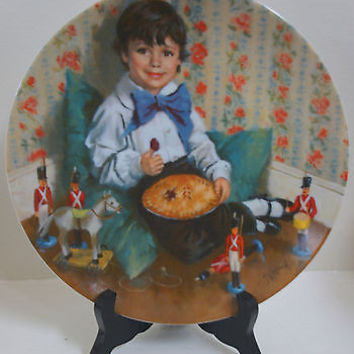Mother Goose Series Little Jack Horner Fine China 4th Edition Collectors Plate