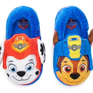 Paw Patrol Chase & Marshall Toddler Boys Slippers, Large (9-10)