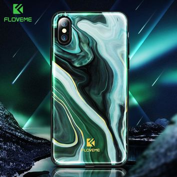 2018 Luxury Phone Case For iPhone X Soft Edge Agate Pattern