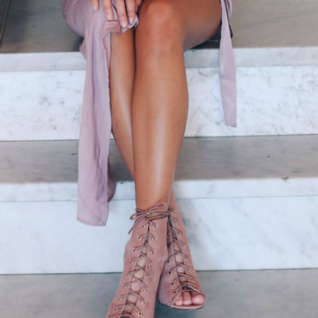 Chase You Down Dusty Pink Booties