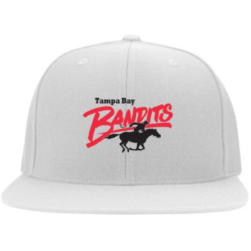 Retro Tampa Bay Bandits Embroidered Flat Bill Twill Flexfit Cap