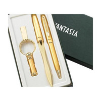 MG Gifts 3 Pcs Set Gold Bp Pen, Letter Opener & Key Ring With Gift Box