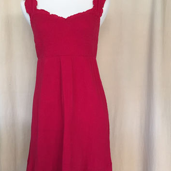 Maeve, Red Smocked Dress, Size 8