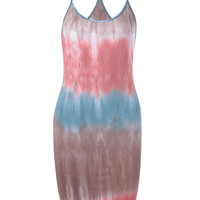 Contracted Knitting Tie-Dye Dress