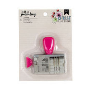 American Craft Bible Journaling Date Stamp - Roller stamp for adding dates and headers to your journaling bible