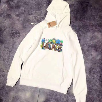 VANS Woman Men Print Fashion Hoodie Top Sweater Pullover
