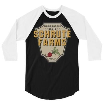World Famous Beets Schrute Farms 3/4 Sleeve Shirt