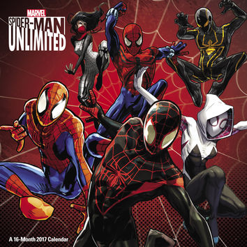 2017 Spiderman Unlimited Wall Calendar