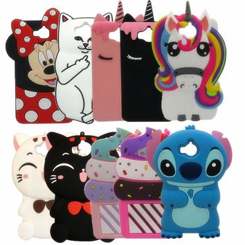 """For Huawei Y6 2017 Hot 3D Cartoon minnie Pig Unicorn Cupcake Silicon Soft Cover Case for Huawei Y6 2017 5.0"""" Phone Back case"""