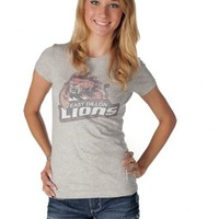 Friday Night Lights East Dillon Lions Heather Gray Juniors T-shirt