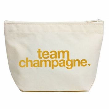 Dogeared Team Champagne Lil' Zip in Canvas