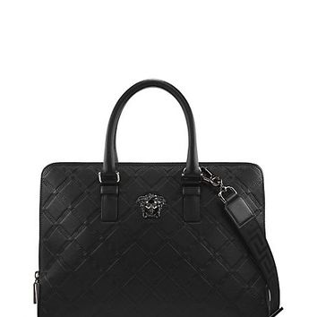 Versace - Greca Embossed Briefcase