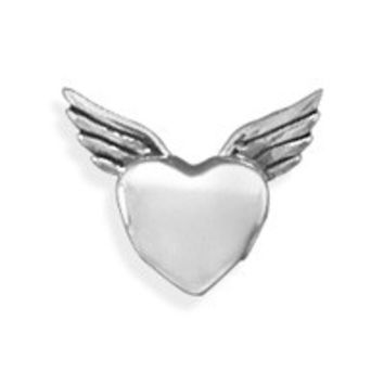 Oxidized Heart with Wings Bead