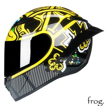 Cobra Full Face Motorcycle Helmet Motocross Racing With Rainbow Visor