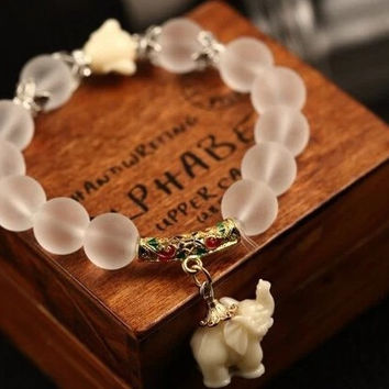 Natural Frosted Crystal Bracelet