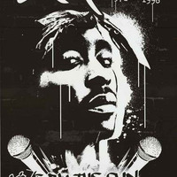 Tupac Shakur Live by the Gun Poster 24x36