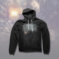 The Fallout/Limitless Album Art Black Hooded Pullover : RSRC : Crown The Empire