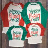 Preorder- Unisex Kids and Adult Merry Christmas Top