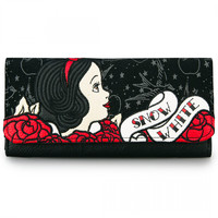 """Snow White Tattoo Flash"" Wallet by Loungefly (Black)"