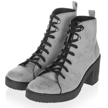 BASIL Lace-Up Ankle Boots - Shoes