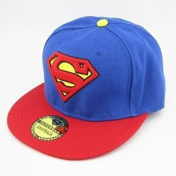 Blue Superman Adjustable Snapback Hat