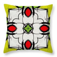 Color Symmetry Throw Pillow