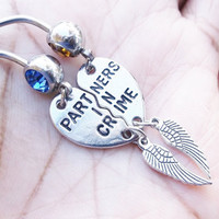 Partner In Crime BestFriends Belly Button Ring - 2Pc