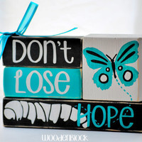 Don't Lose Hope Encouragement WoodenBlock Shelf Sitter Stack
