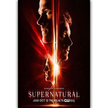 MQ237 Supernatural US TV Series Show Season 13 Hot New Art Poster Top Silk Light Canvas Home Decor Wall Picture Printings