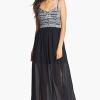 Fire Bustier Maxi Dress (Juniors) | Nordstrom
