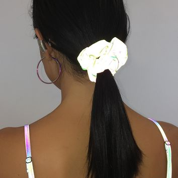 Neon Visions Reflective Scrunchie