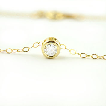 Gold CZ Necklace