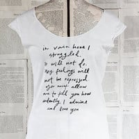 Mr. Darcy Proposal scoop neck t shirt