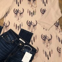 Feather & Cow Skull Tunic