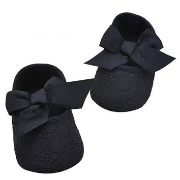 Baby Shoes Infant Girls Boys Cotton Ribbon Bowknot Soft Bottom Flower Prewalker Sapatos De Bebe #7831