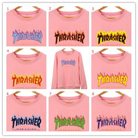 Alphabet Hoodies Pink Autumn Jacket [10469373187]