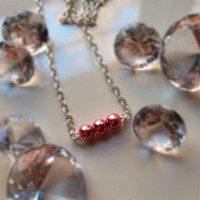 Perfect dainty pearl bead and silver necklace