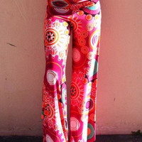 Multicolor Floral Print Straight Pants